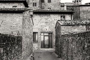 Toscaanse architectuur in zwart-wit