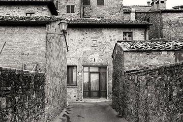Toscaanse architectuur in zwart-wit van