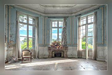 Verlaten Blauwe salon van