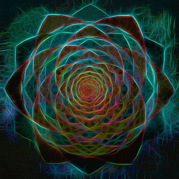 Grafische mandala. Innerlijk licht van Rietje Bulthuis