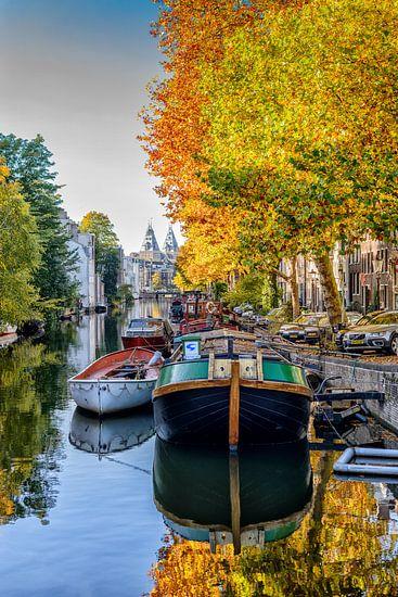 Lijnbaansgracht Amsterdam in de herfst.