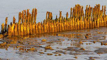 Zonsopkomst boven de Waddenzee van Henk Meijer Photography