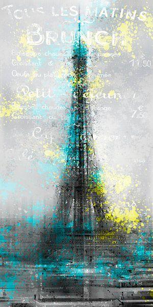 City-Art PARIS Eiffel Tower Letters sur Melanie Viola