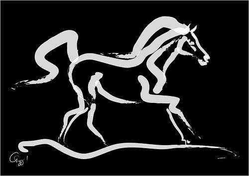 Pferd Runner von