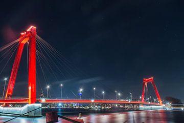 Rotterdam in de nacht van Harm-Jan Tamminga