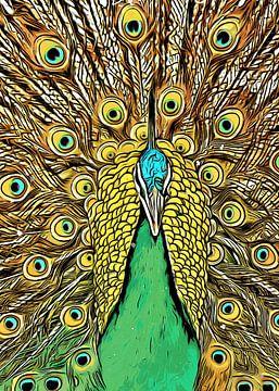 Pfau Vogel Kunst #Pfau von JBJart Justyna Jaszke