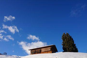 Glooiend winterlandschap sneeuw van A Timmermans