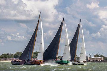 Drie skûtsjes aan de wind van ThomasVaer Tom Coehoorn
