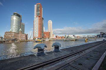 Kop van Zuid met zich op de Rijnhaven Rotterdam von René Brand