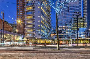 Rotterdam: de Coolsingel bij avond