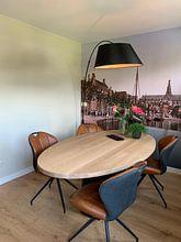 Klantfoto: Turfmarkt en Spaarne, Haarlem van Vintage Afbeeldingen, op naadloos behang