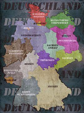 Deutschland - Deutschlandkarte von Christine Nöhmeier