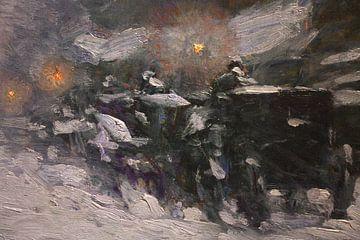 Childe Hassam, Winter, Middernacht,1894 van Atelier Liesjes