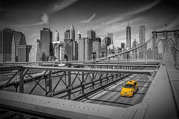 BROOKLYN BRIDGE Blick auf Manhattan von Melanie Viola