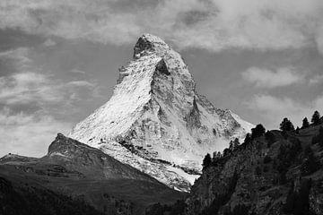 Matterhorn in schwarz-weiß, Schweiz von Menno Boermans