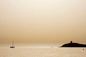 Gouden zonsondergang van