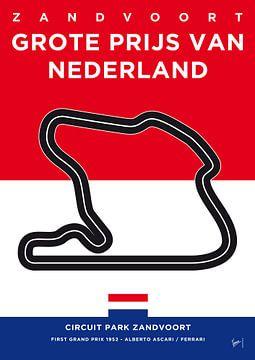 My F1 ZANDVOORT Race Track Minimal Poster van Chungkong Art