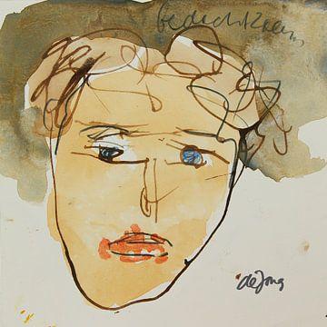 Kattie, portret, avatar von Leo de Jong
