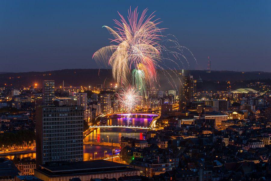 Vuurwerk in Luik van Bert Beckers