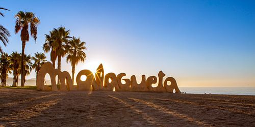 Malaga, strand Playa de La Malagueta - Spanje