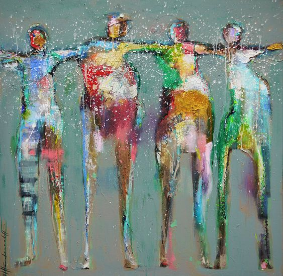 Dance people 1 van Paint- Ing