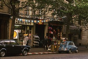 Vintage foto 1970 Parijs fiat 500