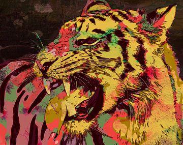 Tiger im Stil der zeitgenössischen Kunst von The Art Kroep