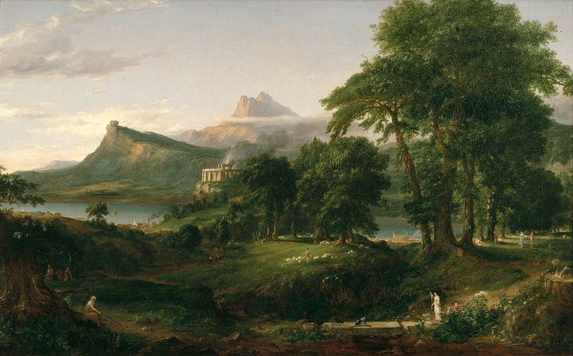 Der arkadische oder pastorale Staat, Thomas Cole von Meesterlijcke Meesters