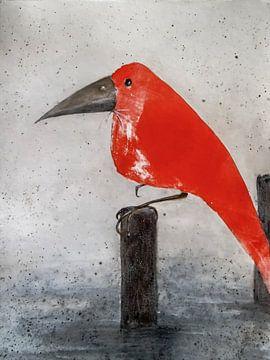 Rode Vogel van Christine Nöhmeier