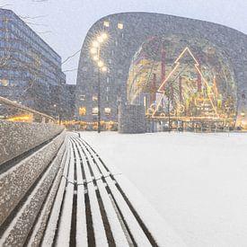 Markthal met sneeuw van Prachtig Rotterdam