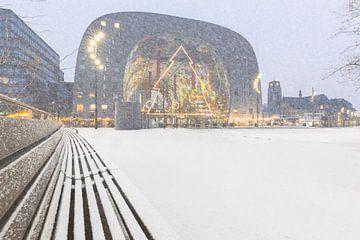 Markthal met sneeuw