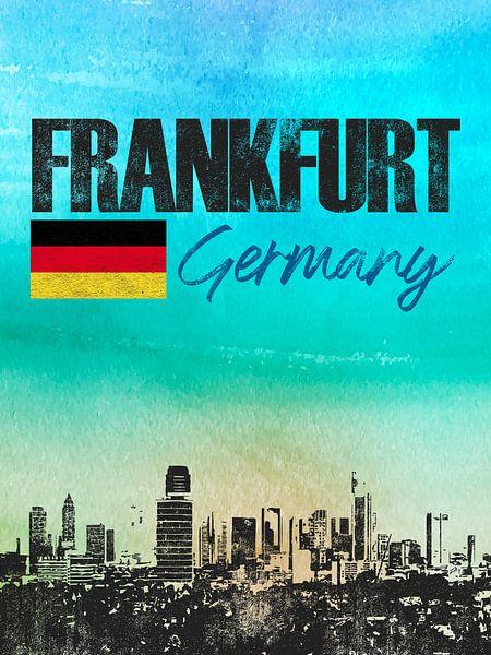 Frankfurt am Main Duitsland van Printed Artings