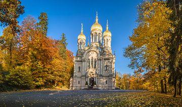 Russisch-Orthodoxe Kirche auf dem Neroberg Panorama van Christian Müringer