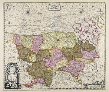Kaart Vlaanderen van Atelier Liesjes