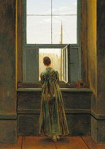 Caspar David Friedrich - Vrouw aan het raam van