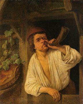 Ein Bäcker der sein Horn bläst, Adriaen van Ostade