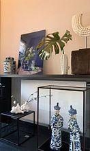 Klantfoto: Stilleven met fluitenkruit en tin op hout [verticaal] van Affect Fotografie, als print op doek