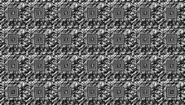 Alphabet No.19 schwarz weiß von Leopold Brix