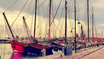 Zeilschepen haven Monnickendam van Digital Art Nederland