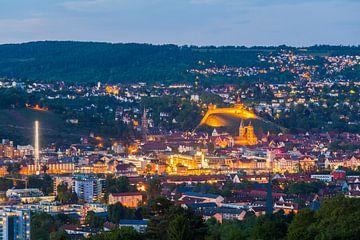 Esslingen sur le Neckar le soir sur Werner Dieterich