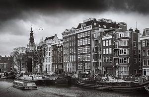 Amsterdam in zwartwit van