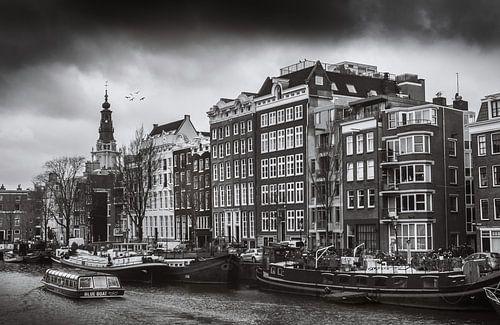 Amsterdam en noir et blanc sur