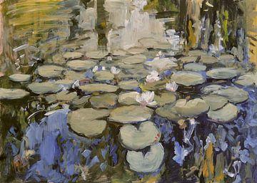 Waterlelies #042021 van Nop Briex