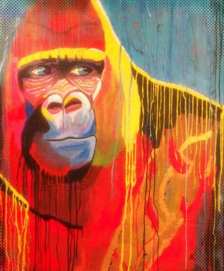 Color-rilla HARAMBE van Blue Eyes Painting