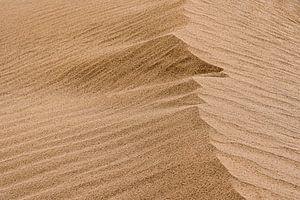 Licht en schaduw van een duin in de woestijn   Iran