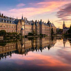Hofvijver bei Sonnenuntergang, Den Haag von Adelheid Smitt