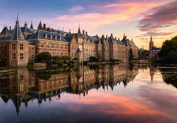 Hofvijver bij zonsondergang, Den Haag van Adelheid Smitt