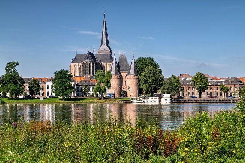 Stadsfront Kampen met Bovenkerk en Koornmarktspoort van Fotografie Ronald