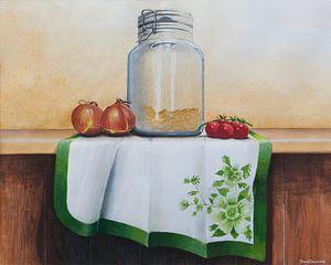 Stilleben Wecktopf und Kirschtomaten von David Soekana