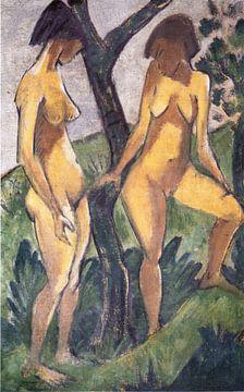 Zwei Mädchen, Otto Mueller - ca 1927 von Atelier Liesjes